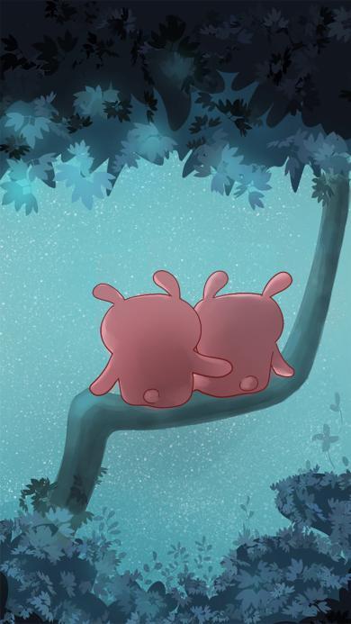 创意可爱冷兔情侣