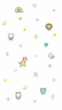 韩系小可爱卡通平铺壁纸