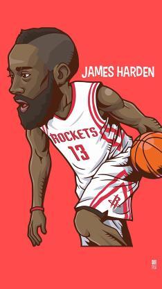 詹姆斯 体育 篮球 手绘 运动