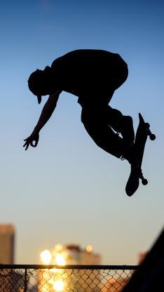 滑板 体育 运动 剪影