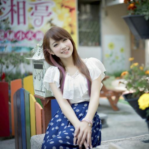 女生 微笑 亚洲 中国 美女