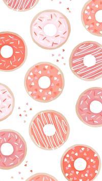 甜甜圈 手绘 粉色 甜品