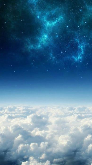 云层 云朵 天空 星空 蓝色