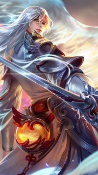 王者荣耀 李白 银色盔甲