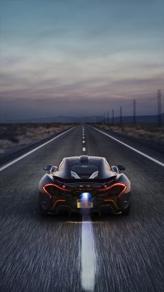 迈凯轮 概念车 跑车 超跑 黑色 公路