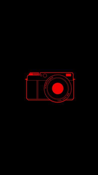 相机 创意 黑 红 拍摄 摄影