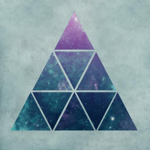 抽象 颜色 空间 色块 金字塔拼接 星空