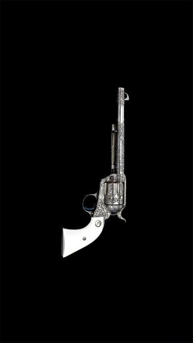 手枪 黑白 军事 金属 雕花