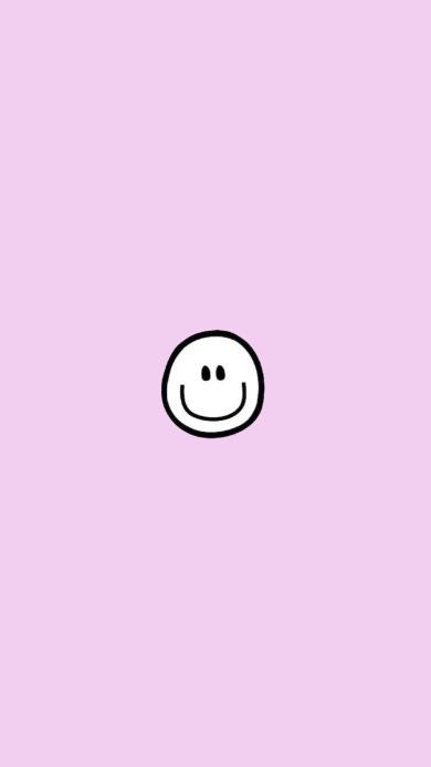 笑脸 粉色 圆形 简笔画
