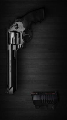 手枪 黑色 军事 子弹