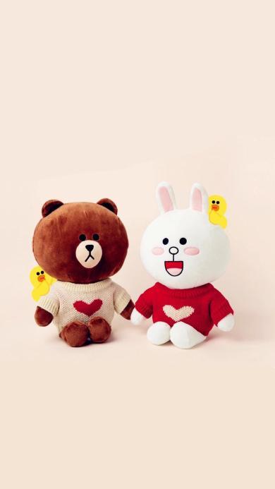 line 爱心 布朗熊 可妮兔