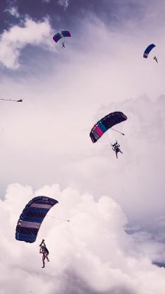 跳伞 极限 运动 天空