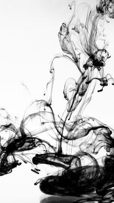 抽象 艺术 水中 抽象 黑色墨水