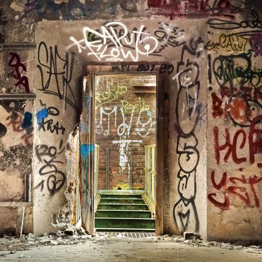 废弃的地方  失效 过去 建设 破碎