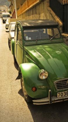 复古车 铁皮 怀旧 绿色 老爷车
