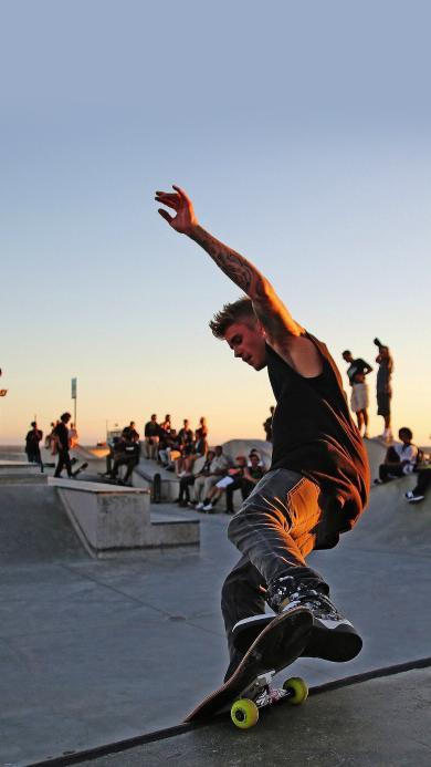 滑板 运动 体育 活力 男孩