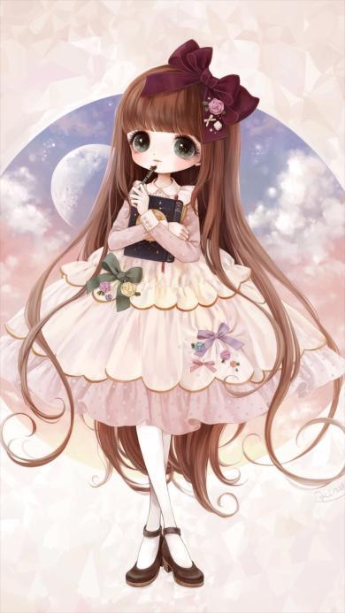 日本动漫 女孩 可爱 动漫 彩色