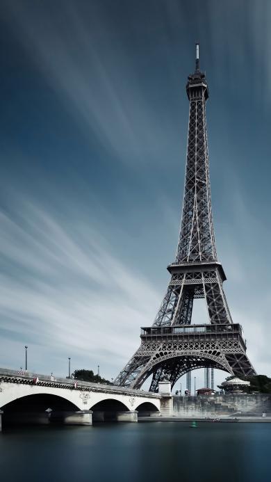 埃菲尔铁塔 风景 法国 天空