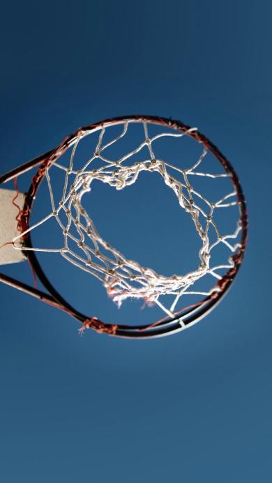 篮球 球框 运动 蓝天  网