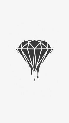 钻石 流血 创意 黑白