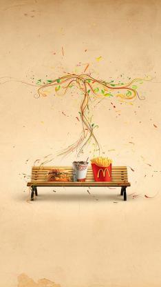 椅子 麦当劳 薯条