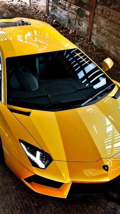 兰博基尼 跑车 黄色 名车
