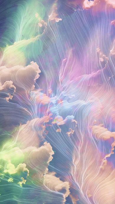 流动 梦幻 线条 色彩 光