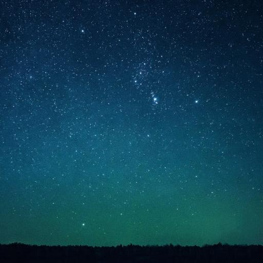 星空 蓝色 夜 繁星
