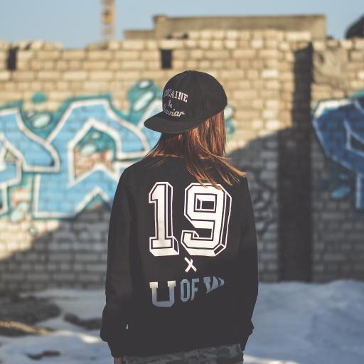 背影 19 帽子 个性 涂鸦