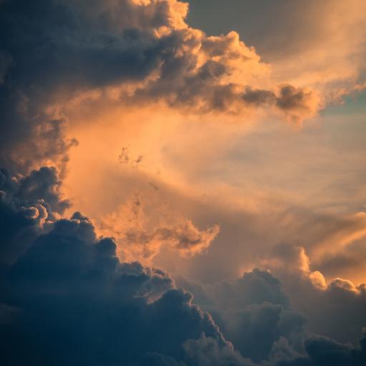 云彩 夕阳 落日 高空 唯美