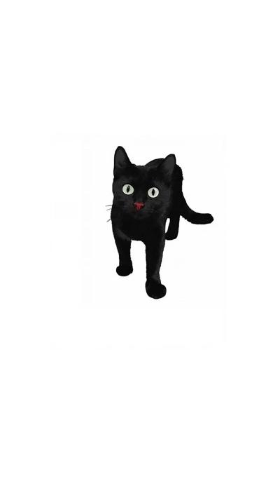 黑猫 手绘 动物 喵星人 萌宠 黑白