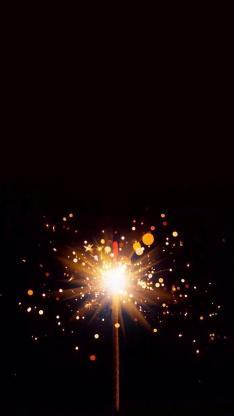 另类创意烟火背景 星星之火