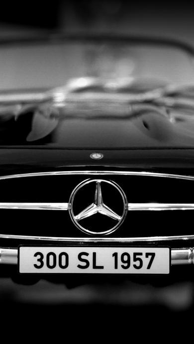 奔驰 黑白 车头 标志 名车
