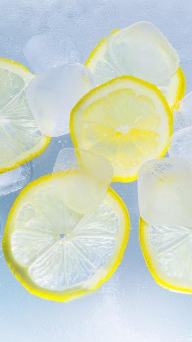 水 黄柠檬 冰块 夏季 柠檬