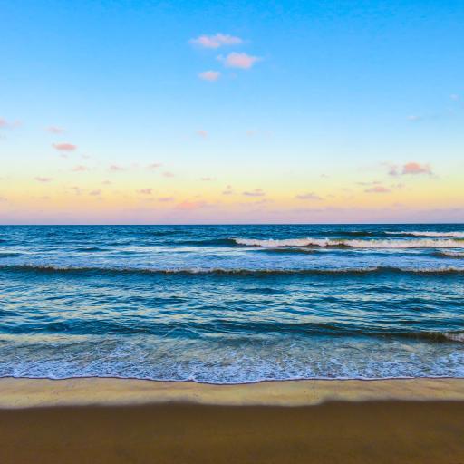 大海 海浪 沙滩 海滩 蓝天