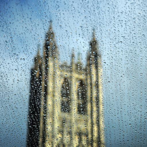 雨天 欧式建筑 唯美