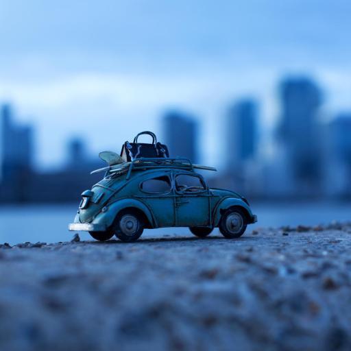 玩具 小汽车 滤镜 蓝色