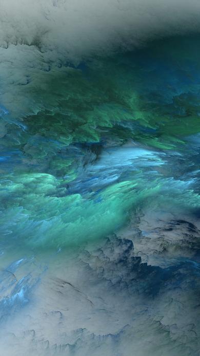 抽象 渐变 流动 蓝绿