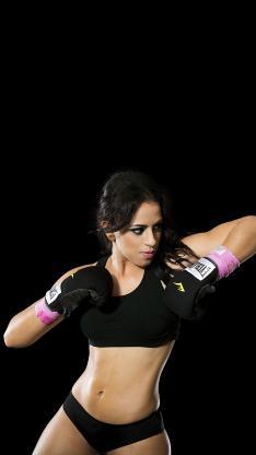 拳击 性感 肌肉 美女 黑色 运动