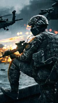 军人 战士 战争 持枪 战斗机