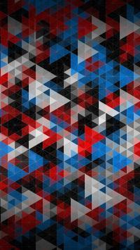 炫彩系列 三角形 色彩 科幻 重叠