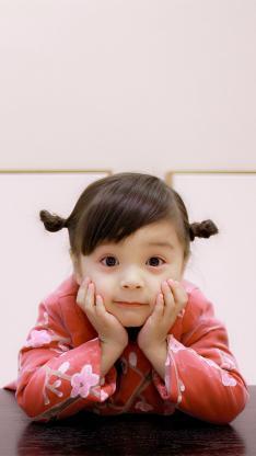 哈琳 萌娃 可爱 小辫子
