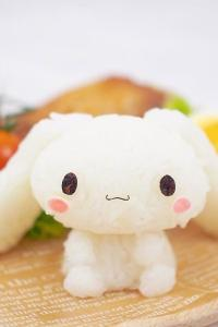 软萌兔子造型饭团