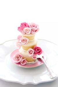 唯美 鲜花纸杯蛋糕 诱人