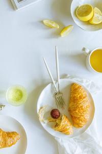 极简主义 小清新美食 面包 柠檬