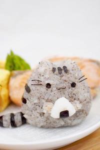 猫咪造型饭团 灰色 可爱