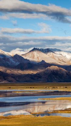 西藏 风景 山水 白云