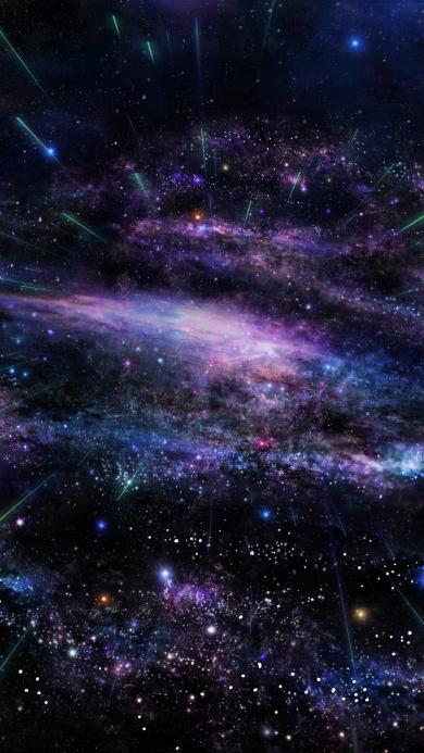 紫色唯美的宇宙星空