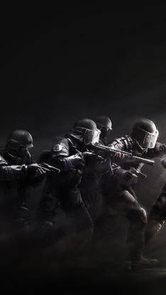 战争 军人 士兵 持枪 黑色 武器