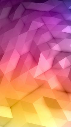 几何 渐变 构成 平面